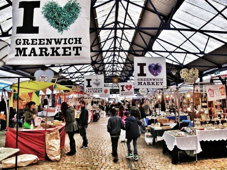 Khu chợ Greenwich cổ kính tại London