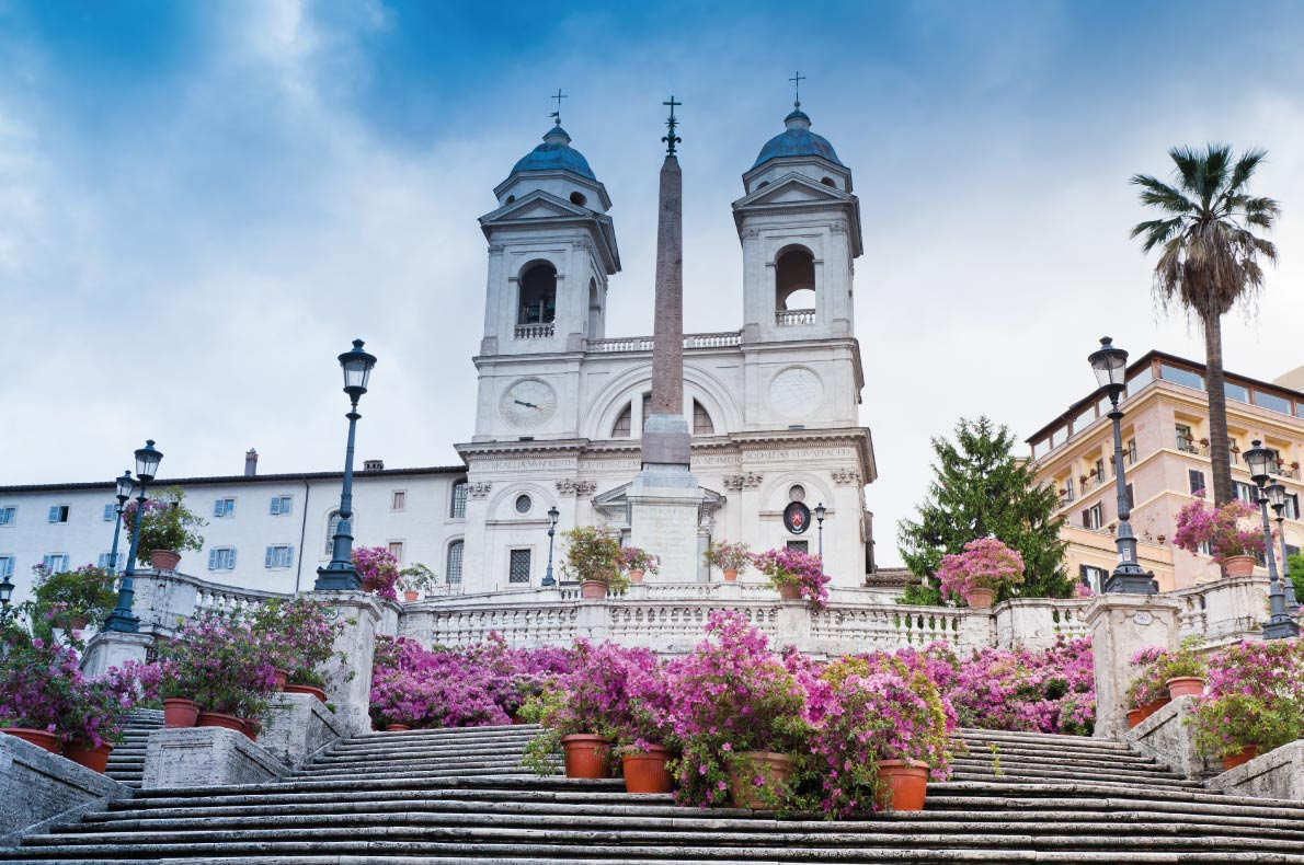 Các bậc thang Tây Ban Nha ở Rome,Nước ý