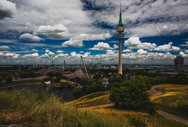 du lịch Munich - công viên Olympic