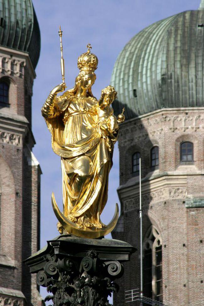 du lịch Munich - quảng trường Mariensäule