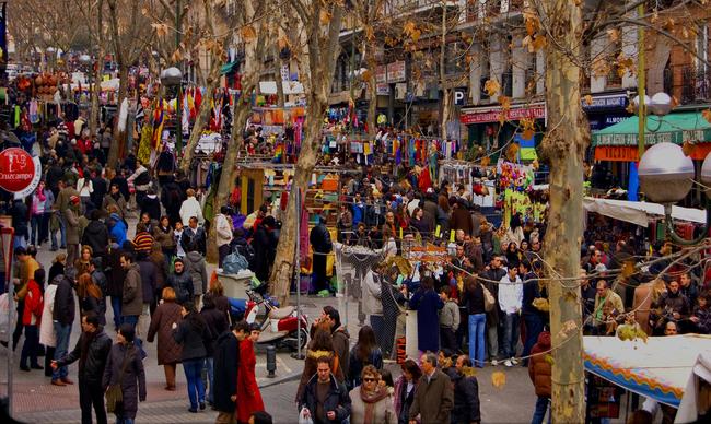 du lịch Madrid - El Rastro