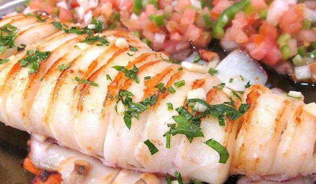 du lịch Valencia - Calamares a La Plancha