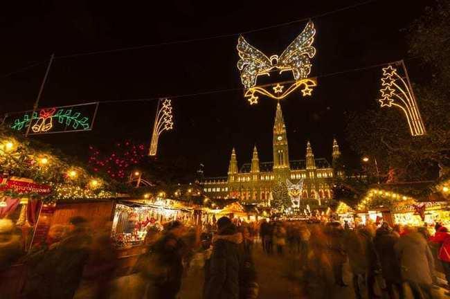 du lịch Vienna - chợ giáng sinh