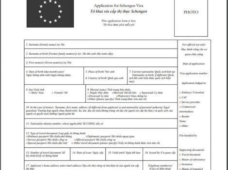 Mẫu đơn xin thị thực ( visa ) đi du lịch Pháp