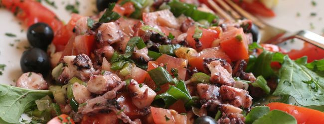 du lịch croatia - salad bạch tuộc