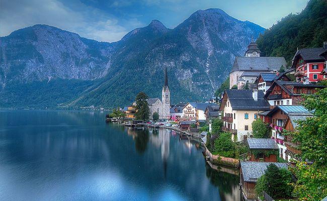 kinh nghiệm du lịch Hallstatt - hồ Hallstatter See