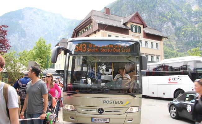 kinh nghiệm du lịch Hallstatt - xe buýt
