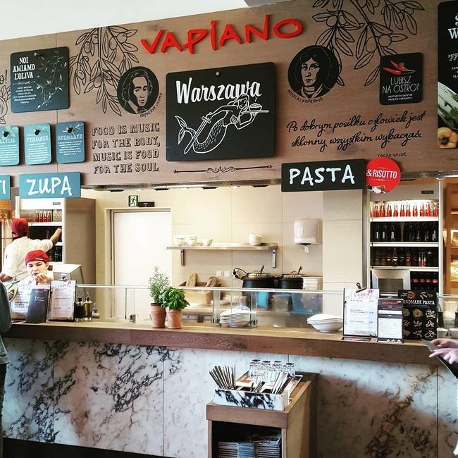 kinh nghiệm du lịch Warsaw - Vapiano