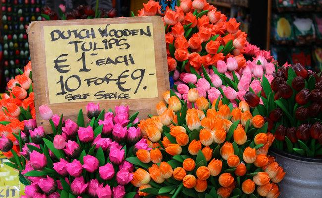 thành phố Amsterdam - chợ hoa