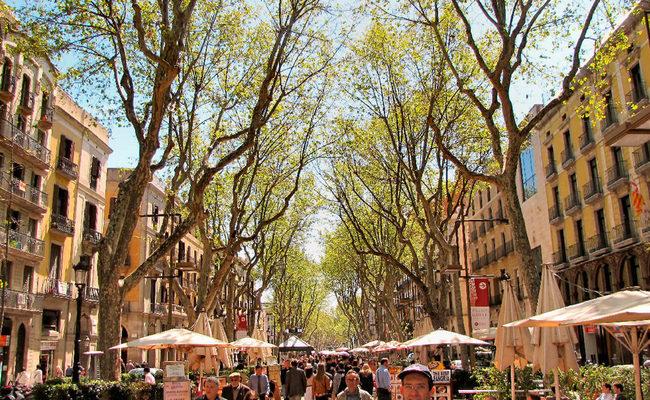 thành phố barcelona - la rambla
