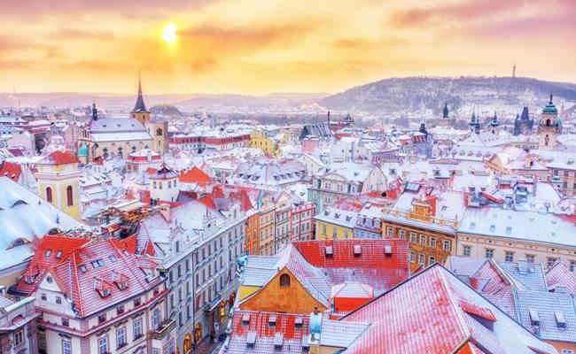 Cộng hòa Séc đẹp mơ màng trong tiết trời mùa đông