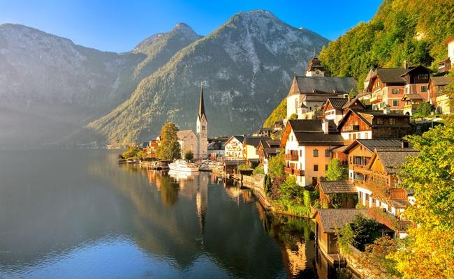 thời tiết các tháng ở châu âu - làng hallstatt