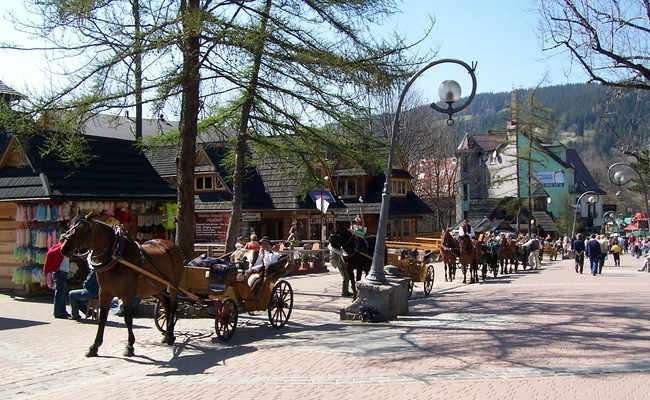 dãy núi tatras - phố Krupowki