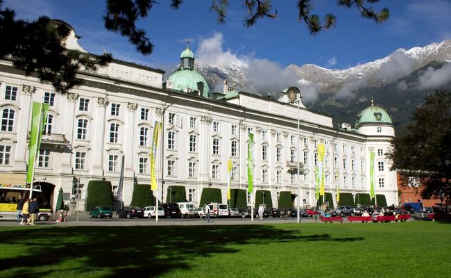 du lịch innsbruck - cung điện hofburg