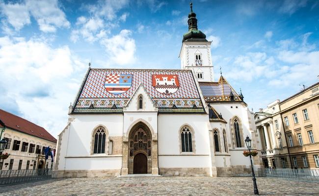 du lịch zagreb - nhà thờ st. mark