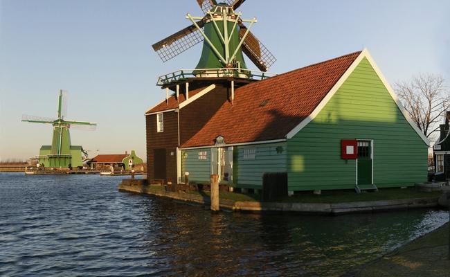 làng zaanse schans - cối xay gió De Huisman