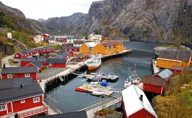 quần đảo lofoten - làng Nusfjord