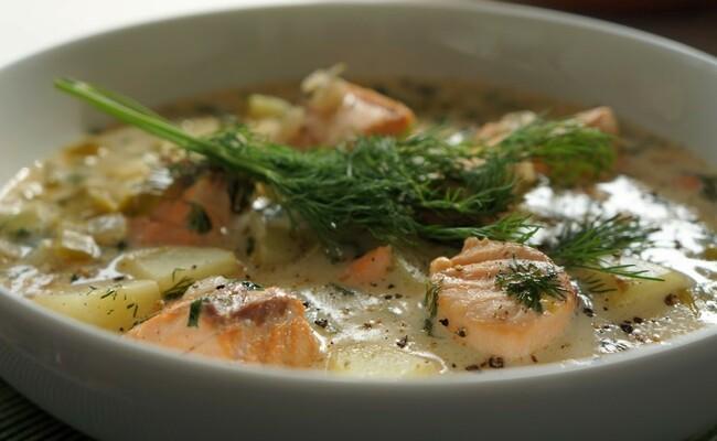 du lịch helsinki - súp cá hồi