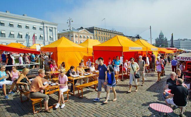 du lịch helsinki - market square