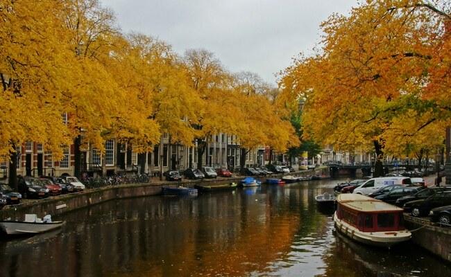 mùa thu ở châu âu - amsterdam