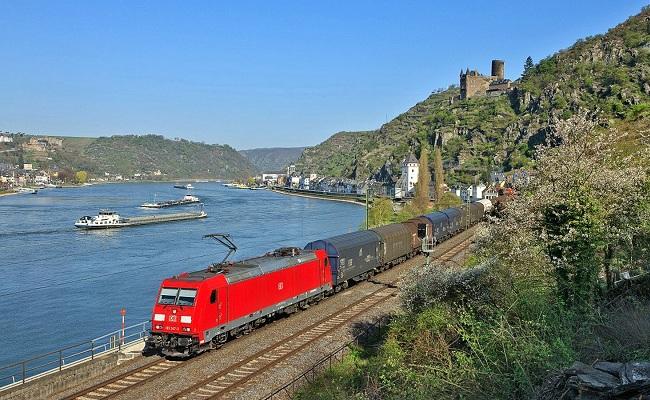 sông rhine - tàu hỏa