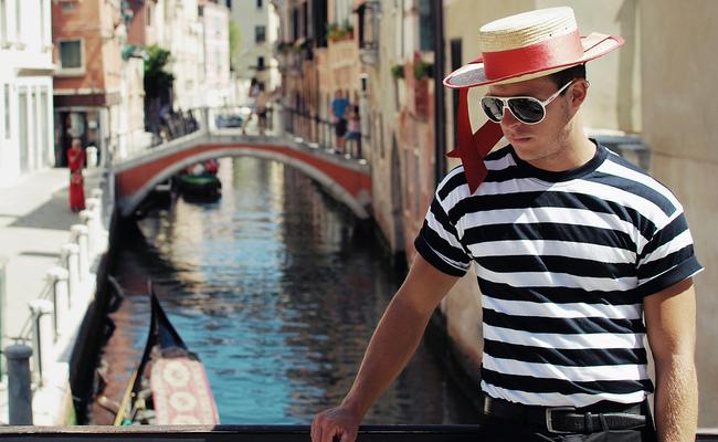 thuyền gondola - người lái thuyền