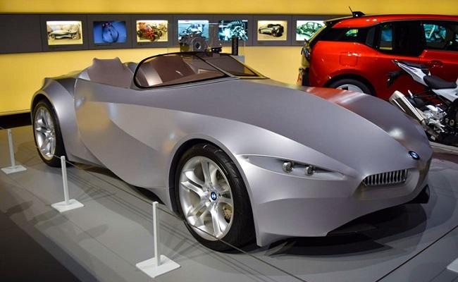 bảo tàng ô tô bmw - xe trưng bày