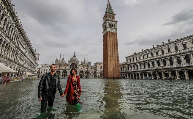 trận lụt tại quảng trường san marco