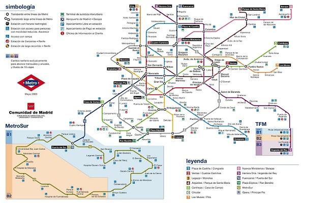 tàu điện ngầm tại Madrid