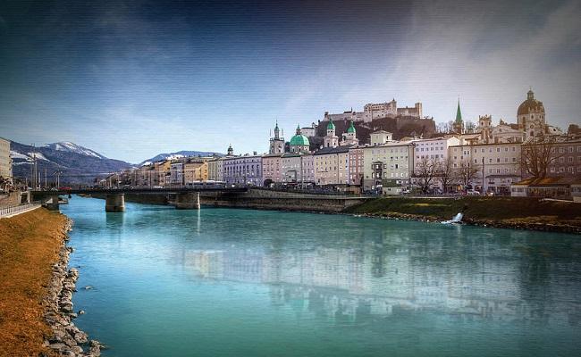 vẻ đẹp của dòng sông salzach