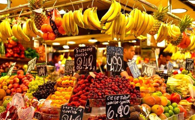 khu phố la rambla - chợ la boqueria