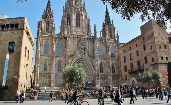 nhà thờ barcelona cathedral - vị trí