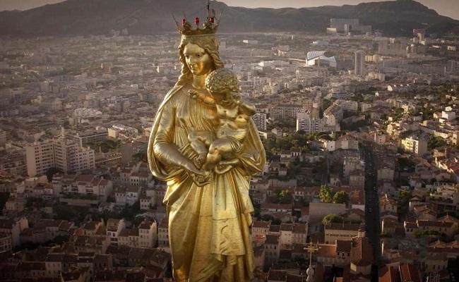 nhà thờ notre dame la garde - tượng Đức Mẹ
