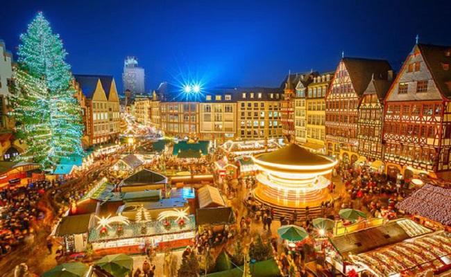 quảng trường Romerberg - giáng sinh