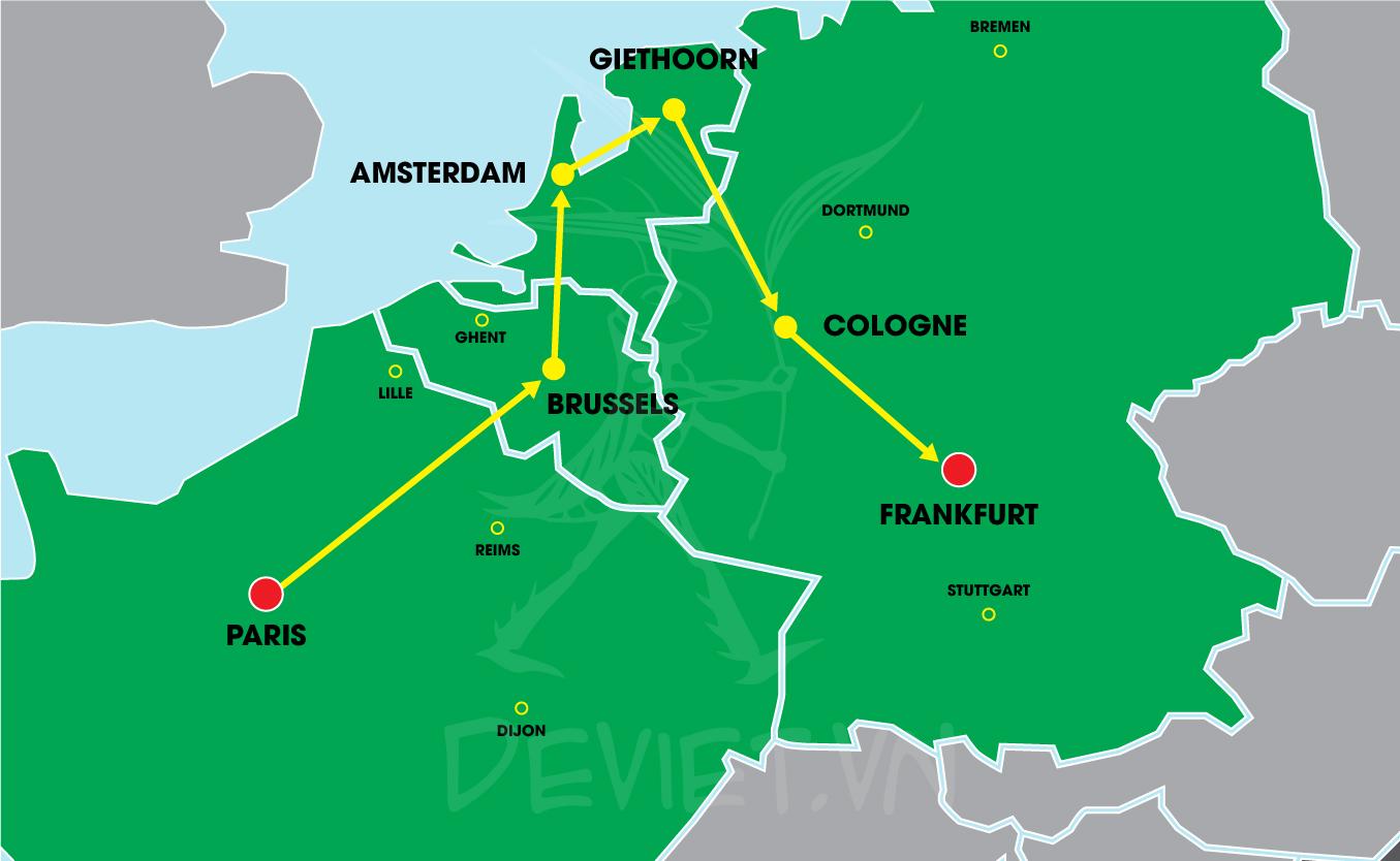 Tour trọn gói 2019 Pháp – Bỉ – Hà Lan – Đức 8 ngày