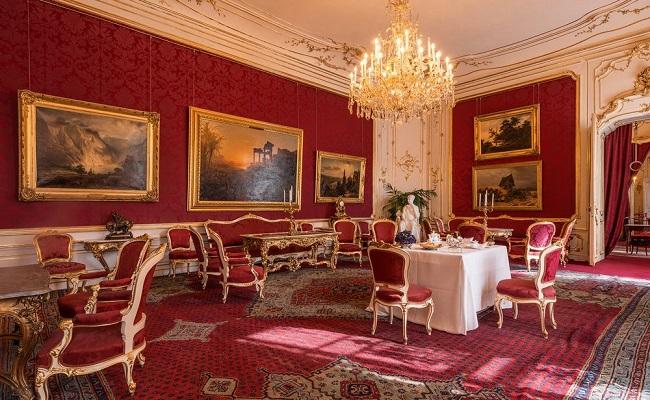 nội thất trong cung điện hofburg