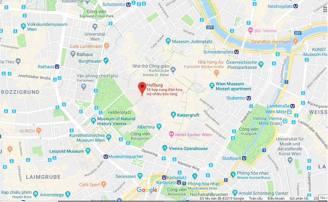 cung điện hofburg nằm ở đâu
