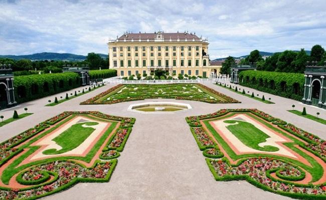 khu vườn của cung điện mùa hè schönbrunn