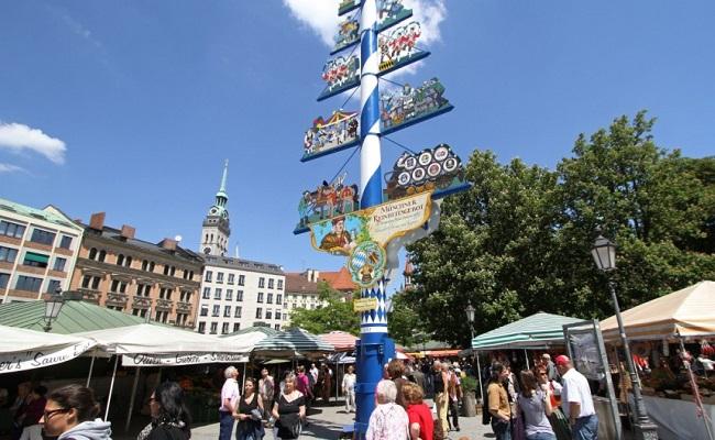 biểu tượng của khu chợ Viktualienmarkt