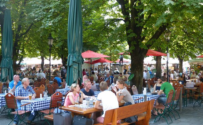 vườn bia viktualienmarkt