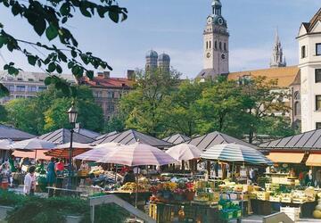 khu chợ 200 tuổi viktualienmarkt
