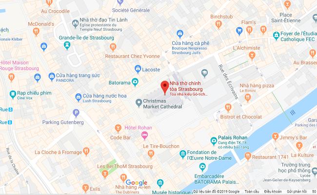 nhà thờ Strasbourg nằm ở đâu