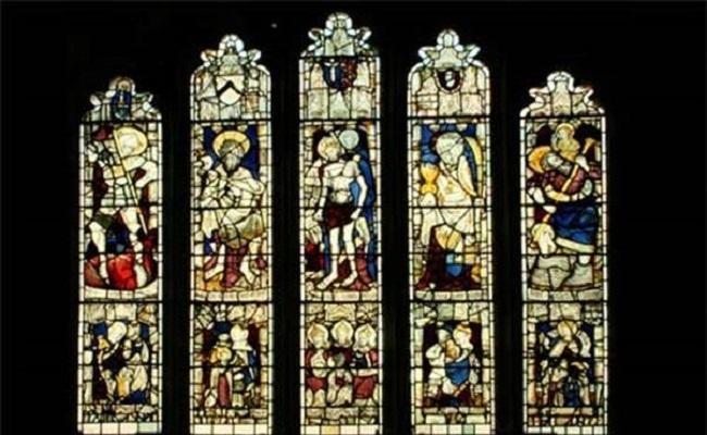 tranh kính trong nhà thờ York