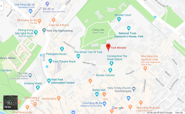 nhà thờ york nằm ở đâu