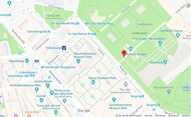 quảng trường heldenplatz ở đâu