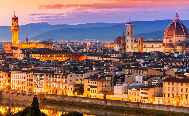 ngắm Florence từ quảng trường piazzale michelangelo