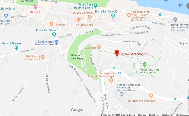 quảng trường piazzale michenlangelo nằm ở đâu