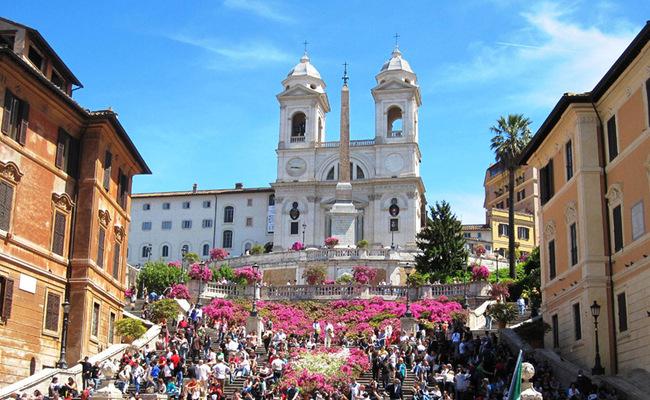 quảng trường tây ban nha - nhà thờ trinità dei monti