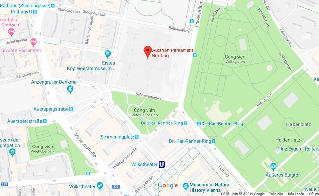 tòa nhà quốc hội austrian parliament building ở đâu