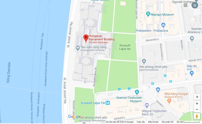 tòa nhà quốc hội hungary nằm ở đâu